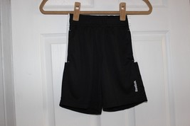Bnwts Reebok Play Dry Boys Sz 4 Shorts Black Summer - $12.86
