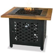 "Uniflame Lp Propane Firepit Outdoor 32""  Patio Deck 30,000 btu with Slat... - $421.00"