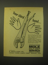 1965 Mole Self-Grip Wrench Ad - Your third hand - $14.99