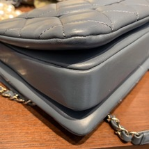 AUTH CHANEL TIFFANY BLUE QUILTED LAMBSKIN TRENDY CC 2 WAY HANDLE FLAP BAG GHW image 8