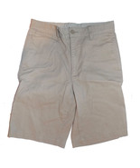 Gap Kids Flat Front Uniform Shorts Boy's 18 Slim Khaki Twill - $12.00