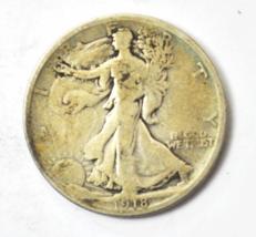 1918 D 50c Walking Liberty Silver Half Dollar Fifty Cents US Denver - $17.81