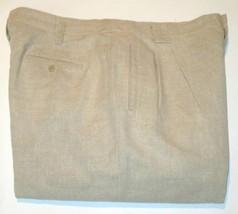 Liz Claiborne Men's Casual Pants Liz Sport Linen/Cotton Khaki #D2 - $17.99