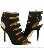 Sam Edelman Anastasia black suede strappy heels - $52.87