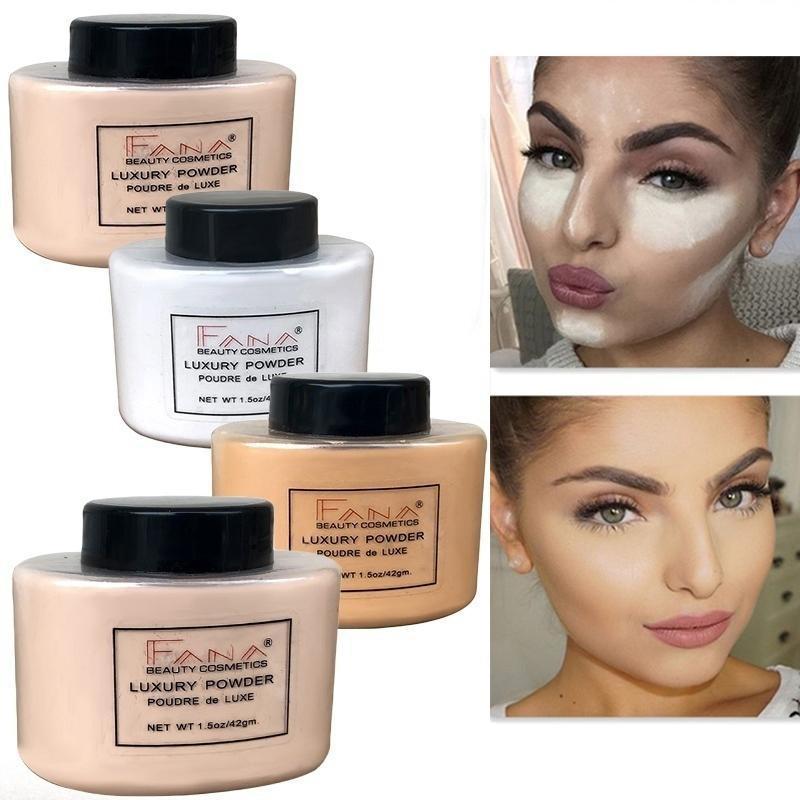 FANA Banana Loose Powder Oil Control Long Lasting Face Makeup Highlighter Minera - $11.00