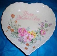 Happy Mothers Day Heart Shaped bone china dish by Mikasa - $9.95