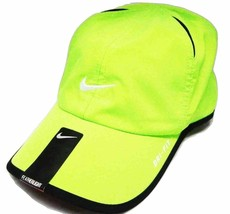 NEW! Volt/Black/White [ADJUSTABLE] Nike Featherlight Running/Tennis Dri-... - $128.58