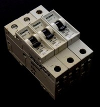 LOT OF 3 NEW SIEMENS 5SX21-A6 MINIATURE CIRCUIT BREAKERS image 1