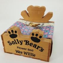 """Solly Bears Flower Bed 6.5"""" Wood Crate Wee Willie Vintage Indoor Gardeni... - €20,36 EUR"""