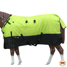 "72"" Hilason 1200D Ripstop Waterproof Turnout Winter Horse Blanket Lime U-2-72 - $84.99"