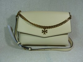 NWT Tory Burch New Cream KIRA Mixed-material Double-strap Shoulder Bag $528 - $493.02