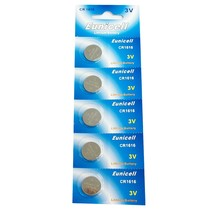 Eunicell CR1616 Lithium Blister Pack 3V 3 Volt Coin Cell Batteries (5 pcs) - $4.51