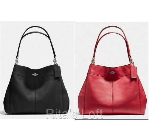 Primary image for NWT! $395 Coach F57545 Lexy Shoulder Bag In Pebble Leather