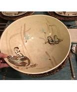 "RED WING POTTERY BOB WHITE Blue Quail Bird Large salad serving 12"" Bowl ... - $36.64"