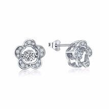 1.50 Carats Dancing Diamond Flower Stud Earrings - $79.00