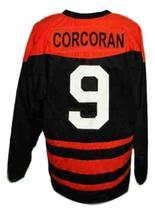 Custom Name # Trail Smoke Eaters Hockey Jersey New Black Corcoran Any Size image 2