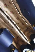 #31642 Gucci Marmont Gg Embroidered Matelasse Logo Tote Blue Denim Shoulder Bag image 3