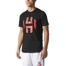 Adidas Mens Harden Logo Tee XL Black-Scarlet - $30.25