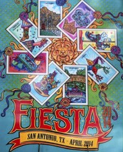 SAN ANTONIO FIESTA 2014 POSTER 24 X 36 Inches Looks beautiful - $19.94