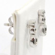 ORSINI 18K WHITE GOLD EARRINGS, MINI INFINITE PENDANT WITH DIAMOND, DROP image 2