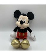 """Mickey Mouse Plush Doll Disney Created for Macy's 2018 Gold Accents 15"""" - $14.84"""