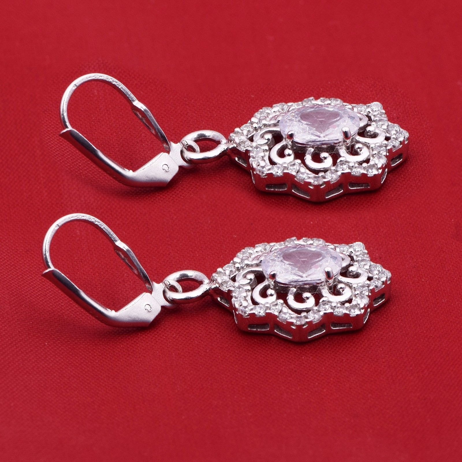Latest Design-Cubic Zirconia 925 Sterling Silver Earring Shine Jewelry SHER0776