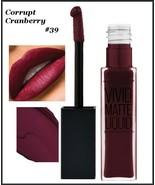2X Maybelline Color Sensational Vivid Matte Liquid Lipstick CORRUPT CRAN... - $11.75