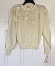 NWT Vintage 80s Sequined Acrylic Sweater Large - $24.99
