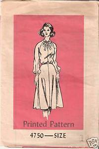 Primary image for Printed Pattern 4750 Misses' Dress Size 14