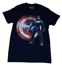 Marvel Comics Captain America Winter Soldier Men's MED Navy Graphic T-Sh... - $12.97