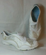 Timberland Outdoor Performance Sport Shoe White Leather w/ floral fabric RARE! - $32.75