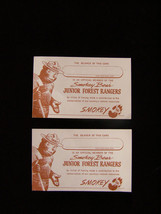 Smokey Bear Junior Forest Ranger Card Lot of 2 - $14.99