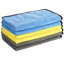GTF Microfibre Car Cleaning Cloths, 16'' x 24'' Large Microfibre Car Cloth Doubl