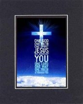 For General Inspiration - One God . . . 8 x 10 Inches Biblical/Religious... - $11.14
