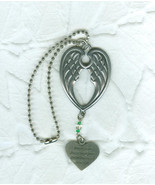 Pewter Never Fly Faster Dashboard  Angel Wings Ornament  Dangle - $4.95