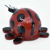 Handmade Oaxacan Wood Carving Folk Art Miniature Ladybug Bobble Head Figurine image 3