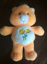 "Care Bears 11"" Talking & Hugging FRIEND BEAR Orange Plush Toy 2003 Excel... - $12.19"