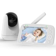 "Baby Monitor, VAVA 720P 5"" HD Display Video Baby Monitor with Camera and... - $135.99"