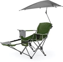 Sport-Brella 3-Position Recliner Chair with Removable Umbrella and Footr... - $76.80