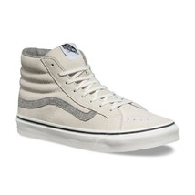 VANS Sk8 Hi Slim (Vintage Suede) True White Skate Shoes WOMEN'S 10 - $54.95