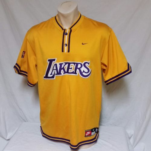 648ff07b024 VTG Nike Los Angeles Lakers Warm Up Jersey and 50 similar items