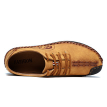 lace shoes shoes up flat comfortable leisure Quality casual men r Men's leather qwnvRZXAx
