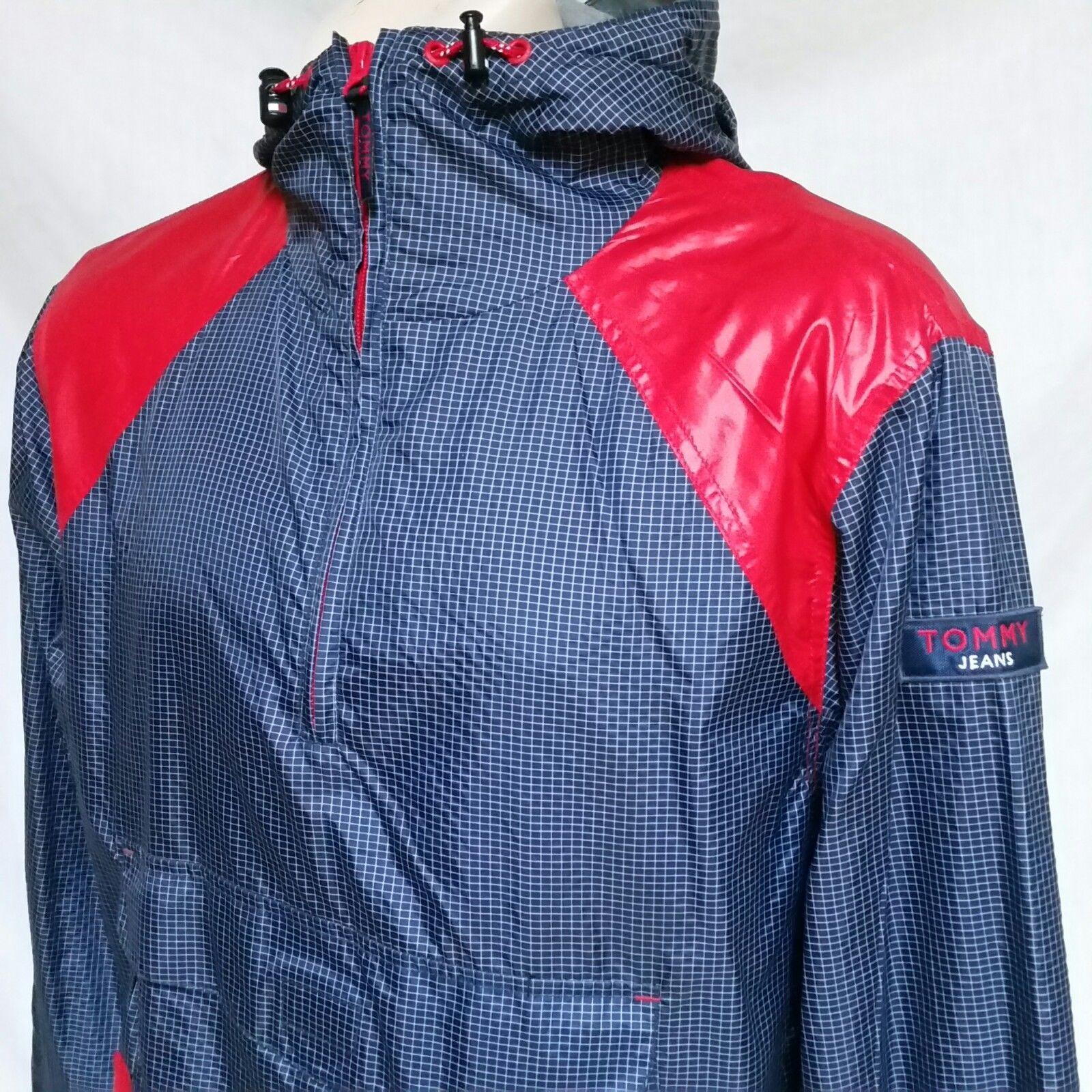 VTG 90s Tommy Hilfiger Jeans Windbreaker Jacket Colorblock Sailing Coat Medium image 2