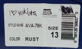 I Love Yo Kids AVA 78K Girls Fringe Boot Rust Silver Studded Size 13 image 9
