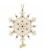 Lenox 2015 Gemmed Snowflake Ornament Annual Amethyst Crystals Christmas ... - $44.55