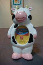 NEW Krazy Kritters by Russ Kids Hand Painted BLACK/ WHITE/ PINK COW PHOT... - $4.95