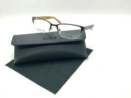 New Guess Frame GU1911 049 Satin Brown 52-18-140MM Half Rimless /CASE Cloth - $31.98