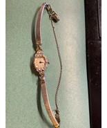 1950s Bulova 23 Jewel 14K Solid Gold 6 Diamond Cocktail Watch WORKS  - $199.99