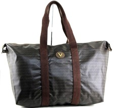 Auth MARIO VALENTINO Vintage Logo Print Tote Travel Carry Shoulder Bag I... - $127.71