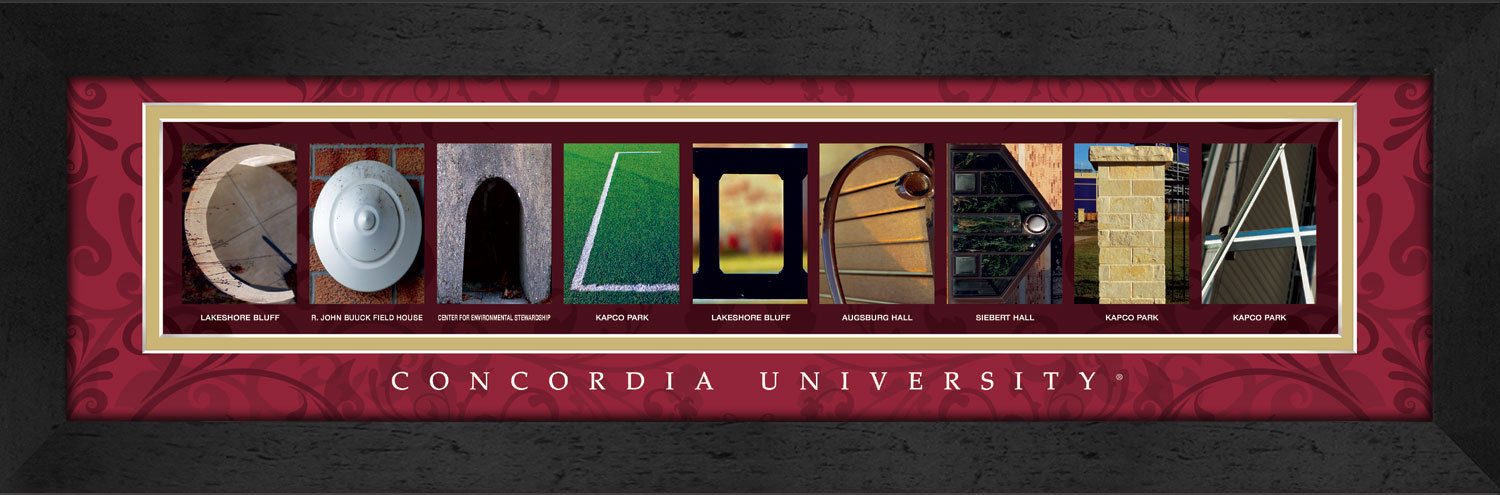 Primary image for  Concordia University Officially Licensed Framed Campus Letter Art